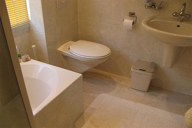 warme badkamer